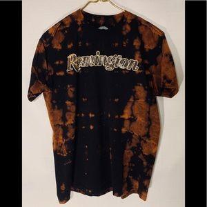 Remington Men's camo tie-dye black tee large
